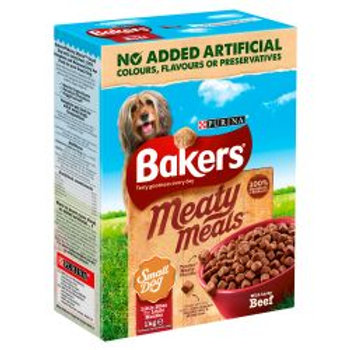 Bakers Meaty Meals Small Dog Beef