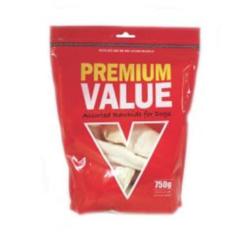 Premium Value Dog Rawhide Assorted