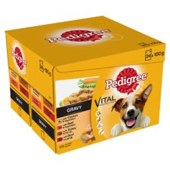 Pedigree Dog Pouches Mixed Varieties in Gravy
