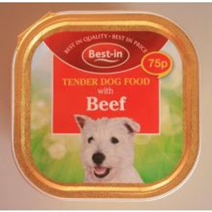 Best-in Dog Food Beef Alu 75p