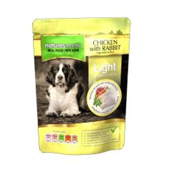 Natures Menu Light Chicken with Rabbit Dog Pouches