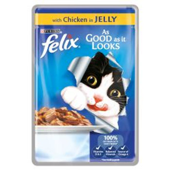 Felix As Good As It Looks Pouch Chicken in Jelly