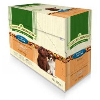 James Wellbeloved Dog Puppy Turkey & Rice 10 Pack