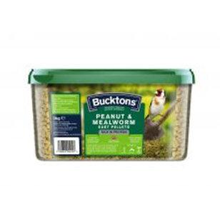 Bucktons Peanut & Mealworm Suet Pellets
