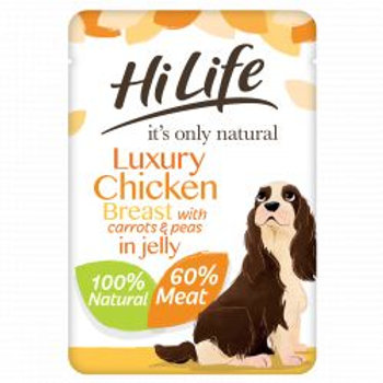 HiLife It's Only Natural - Chicken Breast with Carrots & Peas in Jelly 100g