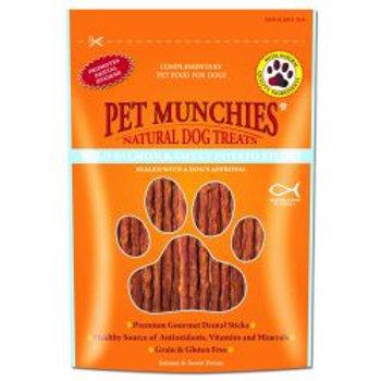 Pet Munchies 100% Natural Wild Salmon & Sweet Potato Dental Sticks
