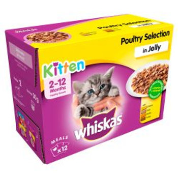 Whiskas Pouch Poultry Selection Chunks In Jelly Kitten