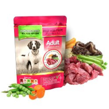 Natures Menu Beef with Tripe Dog Pouches