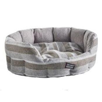 Do Not Disturb Oval Bed Grey Stripe