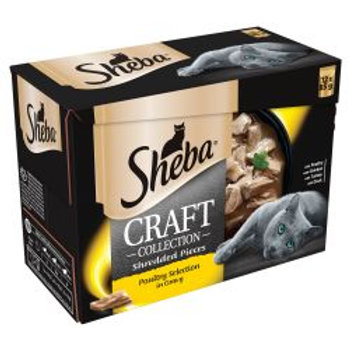 Sheba Pouch Craft Poultry 12 pack