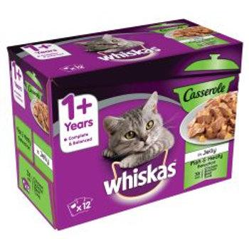Whiskas Casserole 1+ Fishy & Meaty 12 Pack