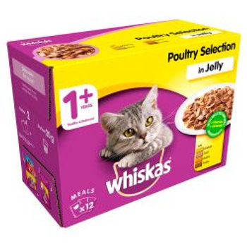 Whiskas Pouch Poultry Selection in Jelly 12 Pack