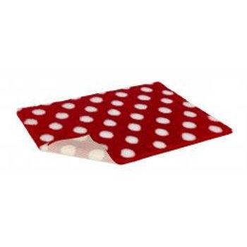 Vetbed Non Slip Polka Dot Red