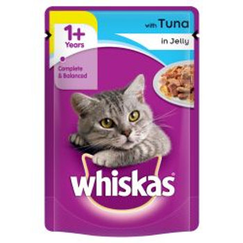 Whiskas 1+ Cat Pouch with Tuna in Jelly 100g