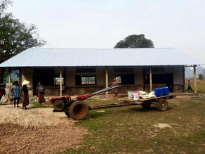 New roof, new beam,... they need a fan to distribute air! #laosschoolproject #achildsnotebook