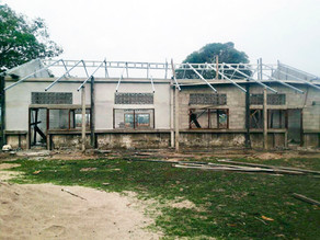 So amazed of villagers work to build new school building. Painting job will make it look prettier.