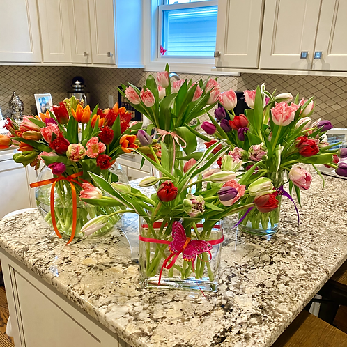 Mother's Day Tulip & Peony Bowls
