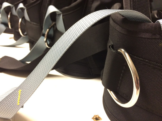 Ice Trek sled harness in production