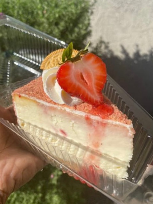 Strawberry Shortcake Cheesecake Slice