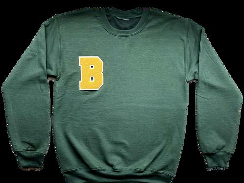 "Baker ""B"" Crewneck - Army Green"