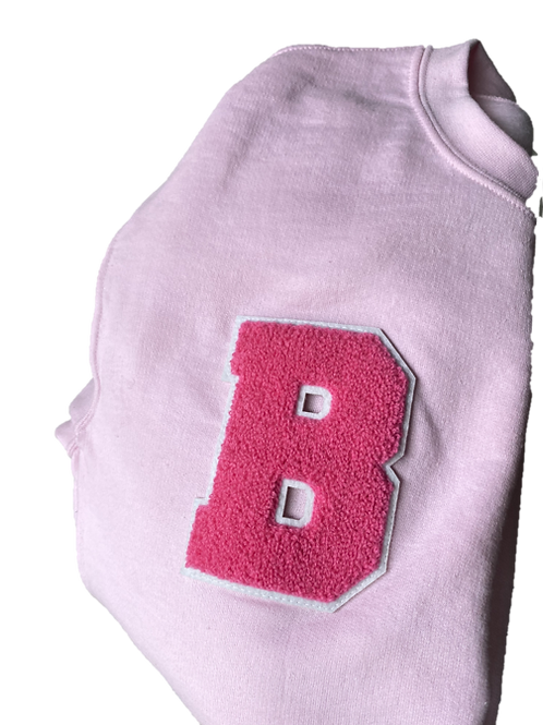 "Baker ""B"" Crewneck - Light Pink"
