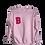 "Thumbnail: Baker ""B"" Crewneck - Light Pink"