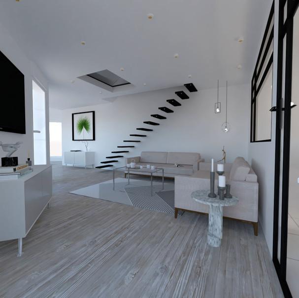 Mezzanine/ escalie - minimaliste