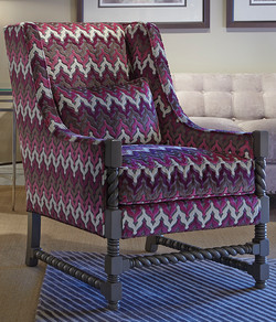 Cable  Wood Accent Chair