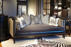 High side Sofa Fabric & Leather Mixe