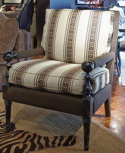 Knob Arm Accent Chair