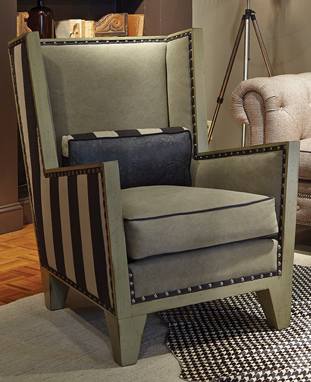 Square Back Wing Chair