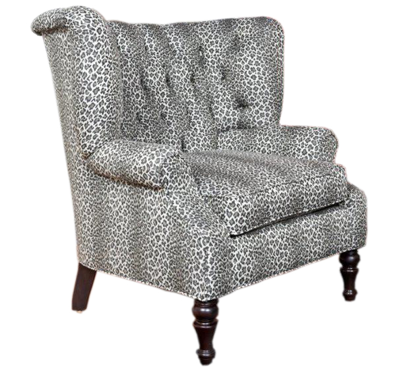 Tufted Animal Print Chair