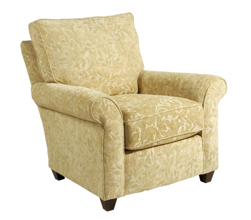Rolled Arm Accent Chair