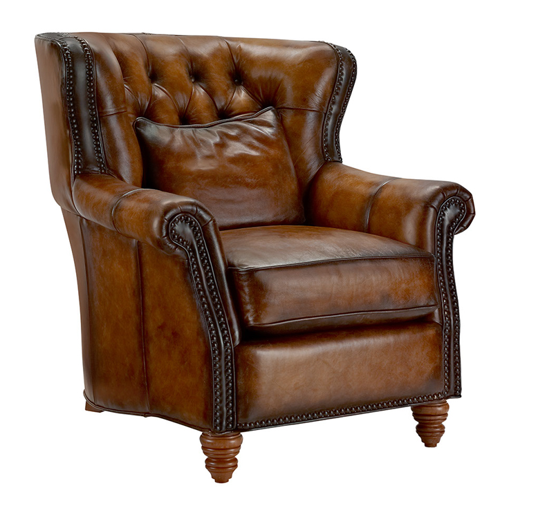 Rolled Arm High Back Tufted Chair