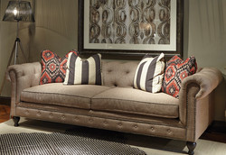 Rolled Arm Tufted Sofa