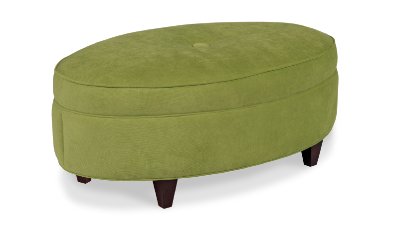 Oval One Button Ottoman