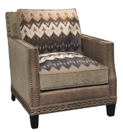 High Side Arm Chair Fabric & Leather