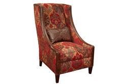 Updated Wing Chair Fabric & Leather