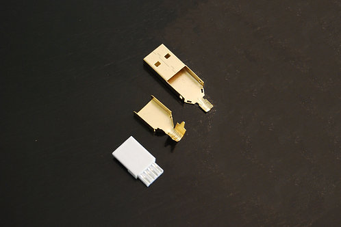 Gold USB-A Connector