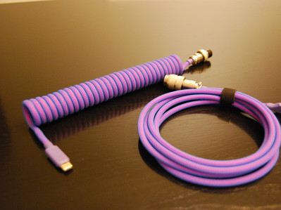 Laser Cable (Neon Pink Paracord with Neon Blue Techflex)
