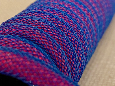 Neon Pink Paracord with Blue Techflex
