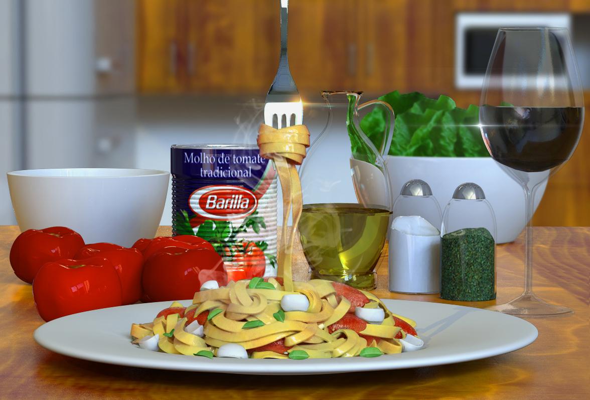 Cena de cozinha 3D