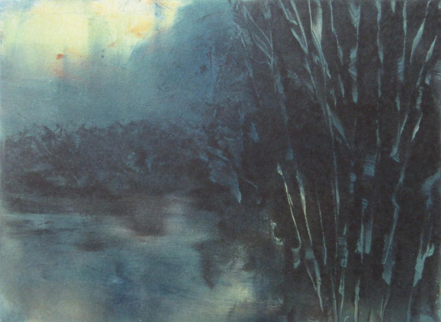 Journey by Twilight 3, Monotype, 8 x 10_