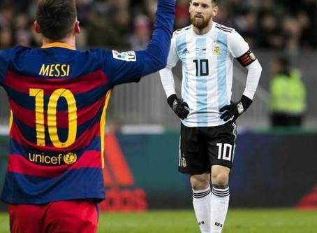 El Messi del Barcelona y el Messi de la Selección