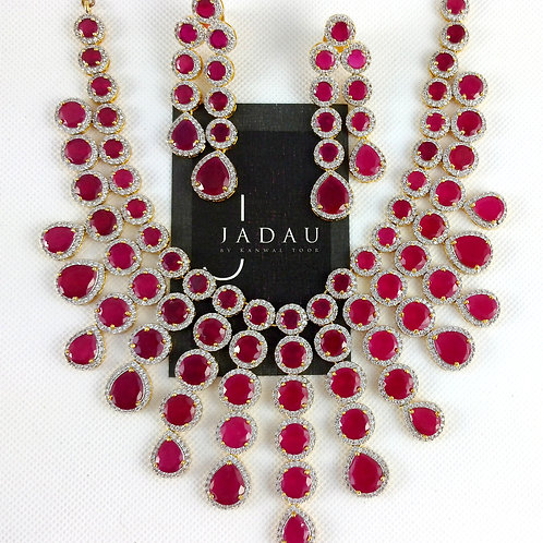 Maharani Sita Devi Haar with Earrings