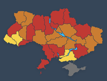 (Updated) Ukraine COVID-19 Red Zones