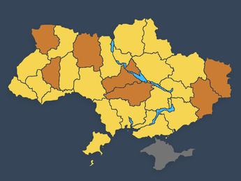 (Updated) Ukraine COVID-19 Red Zones