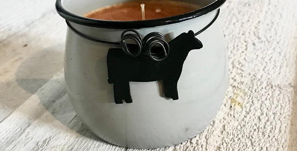 Metal Pot Candle