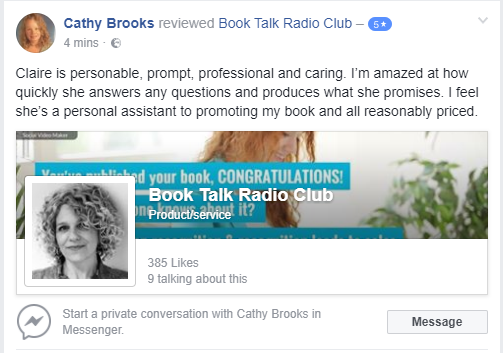Cathy review of Book Talk Radio Club