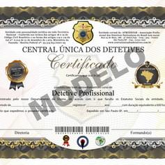 Certificado do Curso de Detetive Particular / Profissional